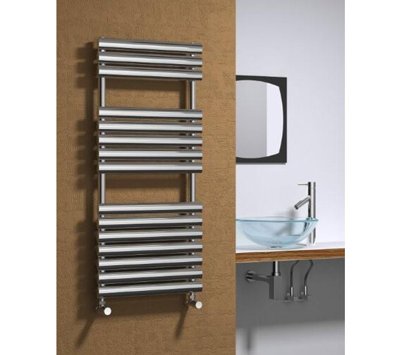 Reina Helin 500mm Wide Stainless Steel Designer Radiator