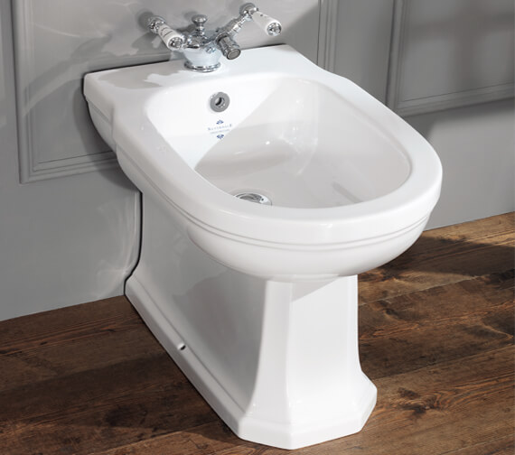 Silverdale Empire Back To Wall 1 Taphole Bidet White