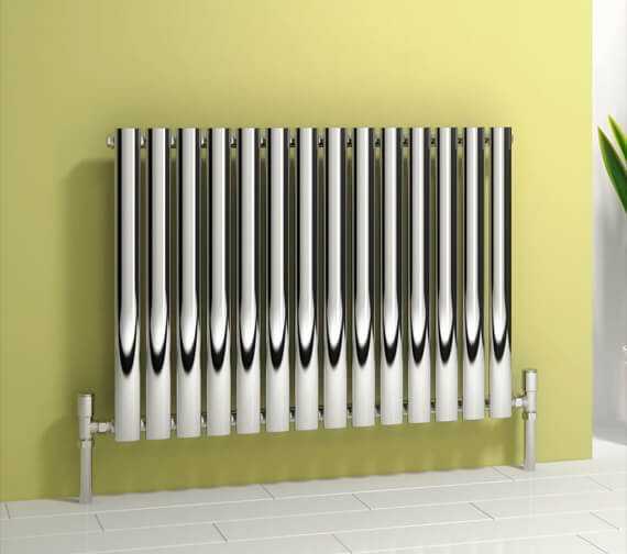 Reina Nerox 413 x 600mm Polished Single Panel Horizontal Radiator - More Width Sizes Available