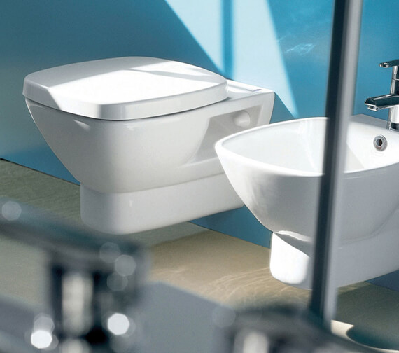 Silverdale Ascot Wall Mounted Pan With Soft Close Seat White