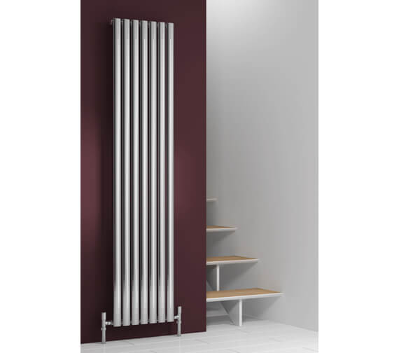 Reina Nerox 1800mm Height Polished Single Panel Vertical Radiator