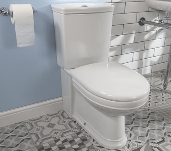 Silverdale Damea Close Coupled WC Pan With Cistern And Fittings