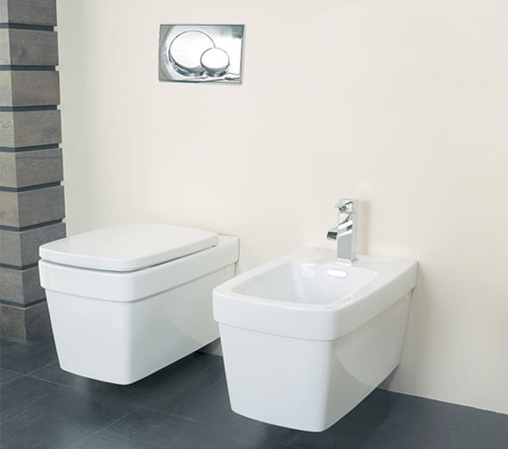 Silverdale Henely Wall Mounted Pan With Soft Close Seat White