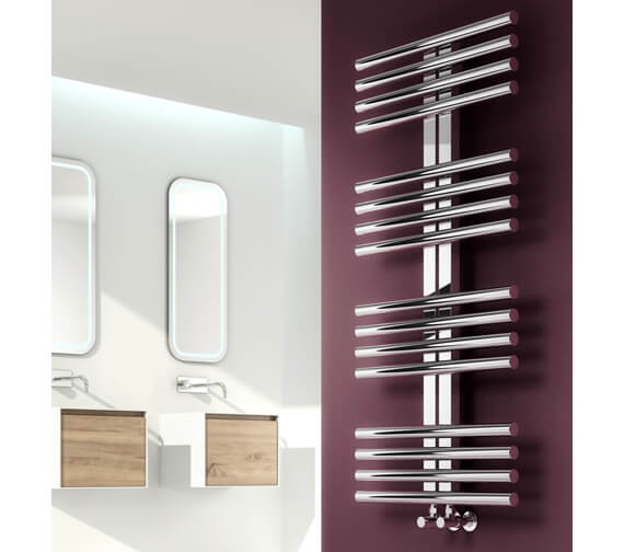 Reina Sorento 600mm Wide Stainless Steel Designer Radiator