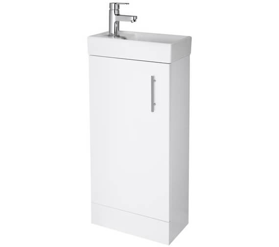 Lauren Vault 400mm Single Door Floor Standing Unit With Basin