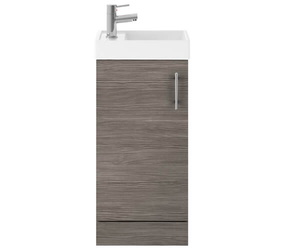 Alternate image of Premier Vault Gloss White 400mm Single Door Floor Standing Unit With Basin