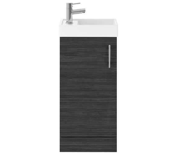 Alternate image of Lauren Vault 400mm Single Door Floor Standing Unit With Basin
