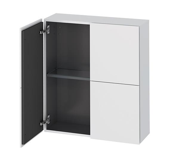 Duravit L-Cube 700 x 243mm White Matt Semi-Tall Cabinet