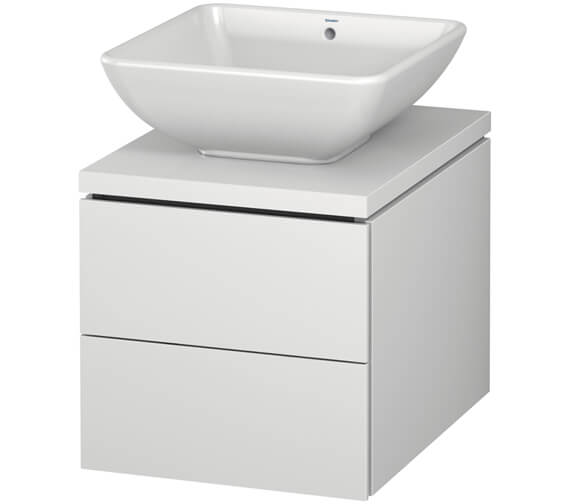 Duravit L-Cube 420mm Double Drawer Wall Hung Vanity Unit For Console