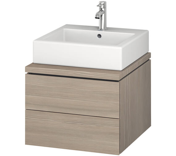 Additional image of Duravit L-Cube 520mm Double Drawer Wall Hung Vanity Unit For Console