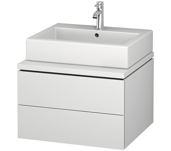 Duravit L-Cube 620mm Double Drawer Wall Hung Vanity Unit For Console