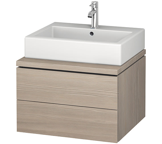Additional image of Duravit L-Cube 620mm Double Drawer Wall Hung Vanity Unit For Console