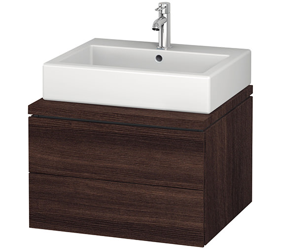 Alternate image of Duravit L-Cube 620mm Double Drawer Wall Hung Vanity Unit For Console