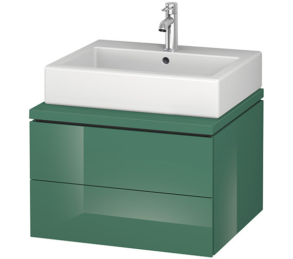 Alternate image of Duravit L-Cube 620mm White Matt Double Drawer Wall Hung Vanity Unit For Console