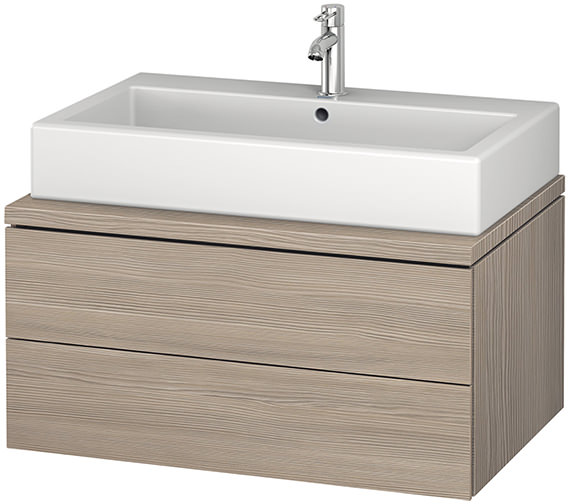 Additional image of Duravit L-Cube 820mm Double Drawer Wall Hung Vanity Unit For Console