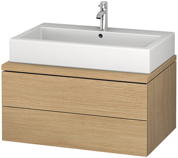 Alternate image of Duravit L-Cube 820mm Double Drawer Wall Hung Vanity Unit For Console