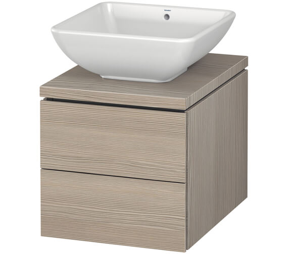 Additional image of Duravit L-Cube 420mm Double Drawer Wall Hung Vanity Unit For Console