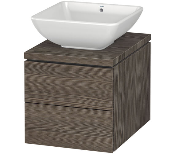 Alternate image of Duravit L-Cube 420mm Double Drawer Wall Hung Vanity Unit For Console