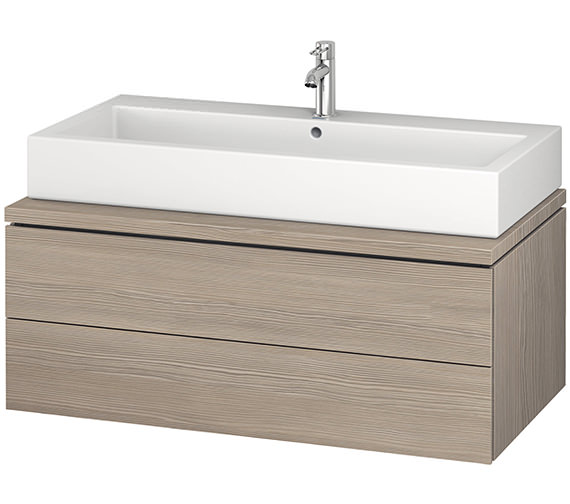 Additional image of Duravit L-Cube 1020mm White Matt Double Drawer Wall Hung Vanity Unit For Console
