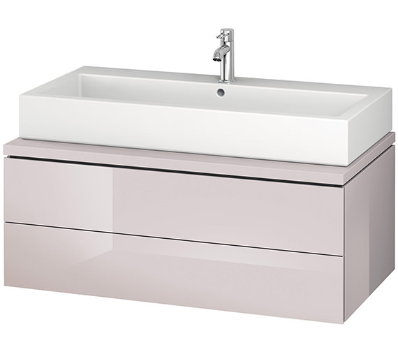 Alternate image of Duravit L-Cube 1020mm Double Drawer Wall Hung Vanity Unit For Console