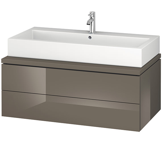 Alternate image of Duravit L-Cube 1020mm White Matt Double Drawer Wall Hung Vanity Unit For Console