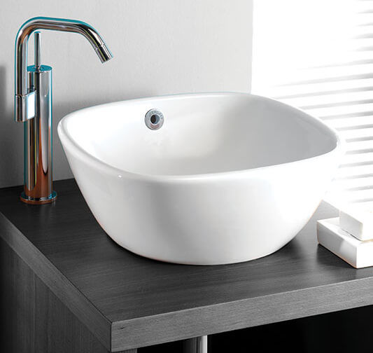 Silverdale Ascot 370mm Countertop Basin White
