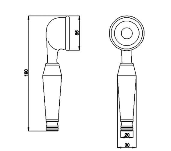 Technical drawing QS-V95105 / A3221