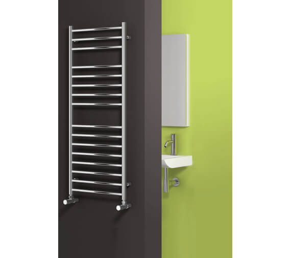 Alternate image of Reina Luna Flat 600 x 430mm Stainless Steel Designer Radiator - More Height Sizes Available