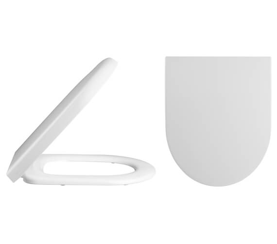 Premier D-Shaped Top Fix Soft Close Toilet Seat And Cover