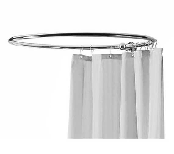 Hudson Reed Round Curtain Shower Ring Chrome