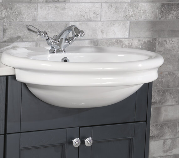 Silverdale Hillingdon 1 Taphole Semi Counter Top Basin