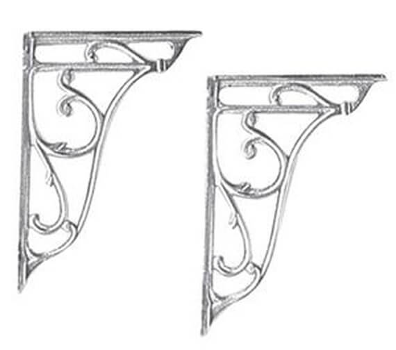 Hudson Reed Chrome Ornate Cistern Brackets