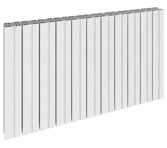Reina Bova 600mm High Double Panel Aluminium Horizontal Radiator White