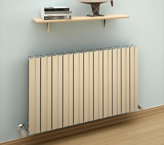 Reina Bova 600mm High Double Panel Aluminium Horizontal Radiator White