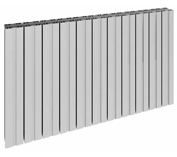 Additional image of Reina Bova 600mm High Double Panel Aluminium Horizontal Radiator White
