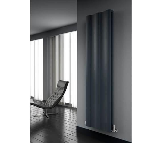 Reina Gio 280 x 1800mm High Double Panel Vertical Aluminium Radiator Anthracite