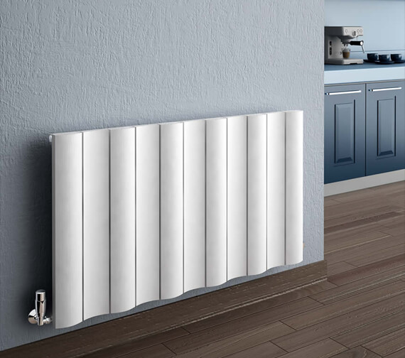 Reina Gio 600mm High Single Panel Horizontal Aluminium Radiator White