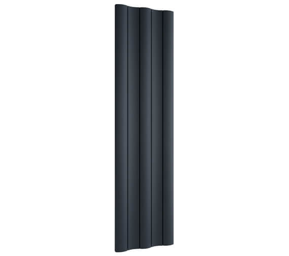 Reina Gio 1800mm High Single Panel Vertical Aluminium Radiator Anthracite