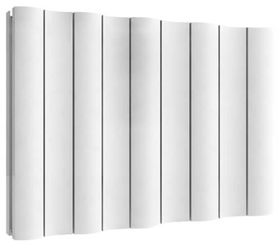 Reina Gio 600mm High Double Panel Horizontal Aluminium Radiator White