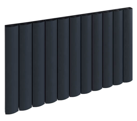 Reina Greco 470 x 600mm Anthracite Single Panel Horizontal Aluminium Radiator - More Width Sizes Available