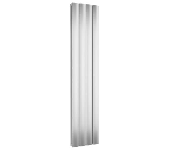 Reina Greco 1800mm High Polished Double Panel Vertical Aluminium Radiator - Available Width  280 - 375 And 470mm