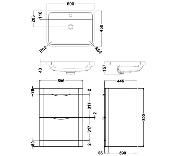 Technical drawing QS-V73270 / FPA001