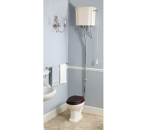 Silverdale Balasani Old English White High Level WC With Cistern