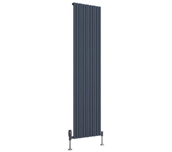 Additional image of Reina Quadral 1800mm High Single Panel Vertical Aluminium Radiator White