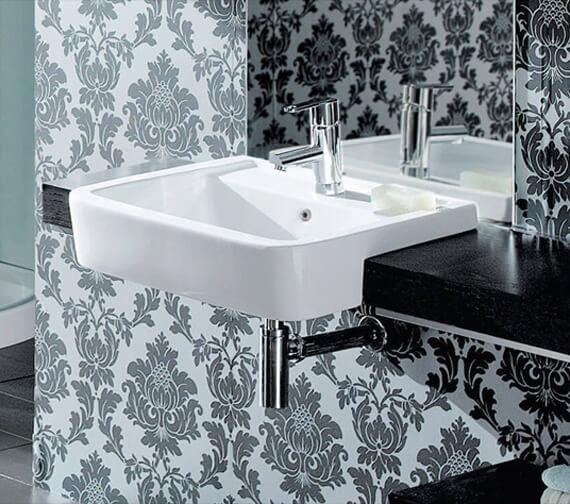 Silverdale Henley 550mm 1 Tap Hole Semi-Countertop Basin