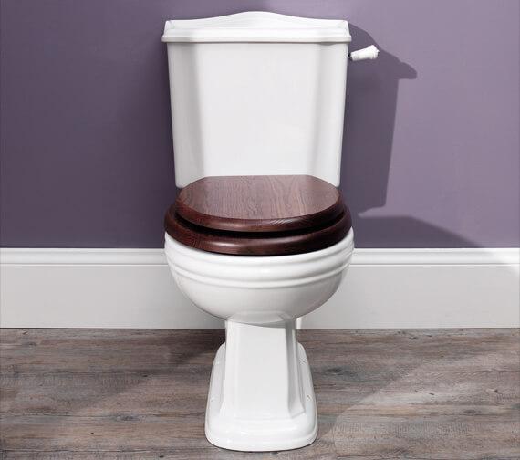 Silverdale Balasani 430 x 704mm White Close Coupled Toilet