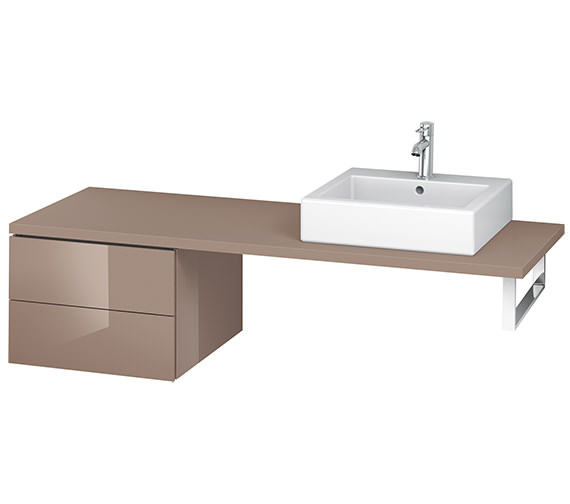 Alternate image of Duravit L-Cube 520mm Double Drawer Floor Standing Vanity Unit For Console