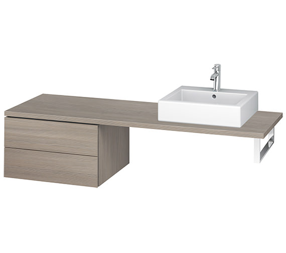 Additional image of Duravit L-Cube 620mm White Matt Double Drawer Floor Standing Vanity Unit For Console