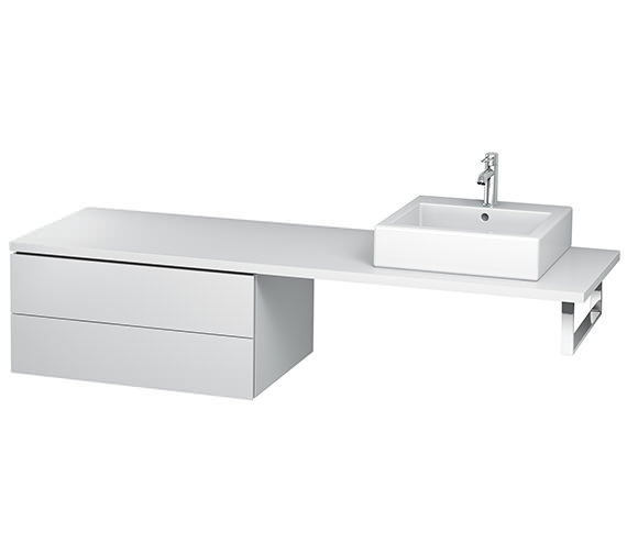 Duravit L-Cube 820mm Double Drawer Floor Standing Vanity Unit For Console