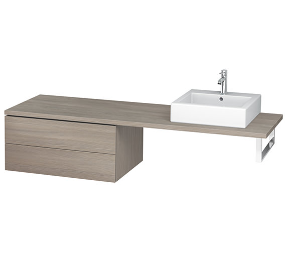 Additional image of Duravit L-Cube 820mm Double Drawer Floor Standing Vanity Unit For Console